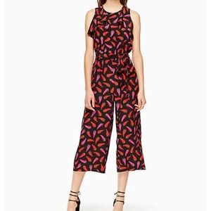 Kate spade chili pepper jumpsuit NEW WITH FLAW 0